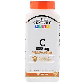 21ème siècle, vitamine C avec des hanches de rose, 1.000 mg, 110 comprimés