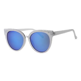 Lunettes de soleil Dames Femme Kat. 3 blanc/bleu (L6247)