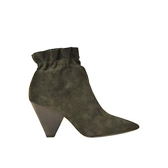 Ash Ezgl040103 Women's Green Suede Ankle Boots