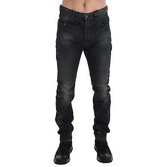 Gray Wash Slim Fit Cotton Denim Jeans SIG17913-1