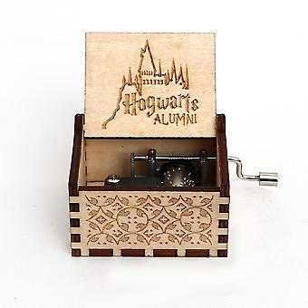 Harry Potter Hogwarts Alumni-wooden, Hand Crank Music Box