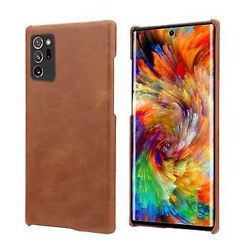 Samsung Galaxy Note 20 Ultra Case kevyt aito nahka kansi ruskea