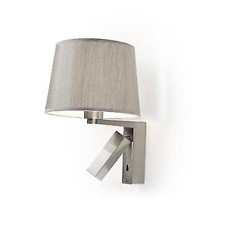 Leds-C4 GROK - 2 Light Indoor Wall Light Satin Nickel with Reading, E27