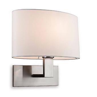 Firstlight Webster - 1 Licht Single Indoor Wand Licht gebürstet Stahl, Creme Schatten, E27