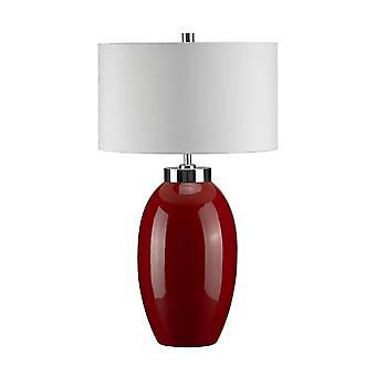 Elstead Victor - 1 lys lille bordlampe - Rød, E27