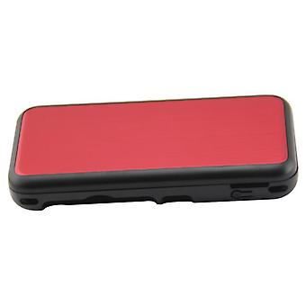 Hybrid case for nintendo new 2ds xl console aluminium metal protective cover - red | zedlabz