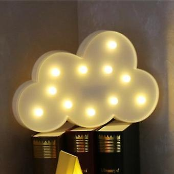 Adorável 3d Cloud/star/moon Shape Led Night Light