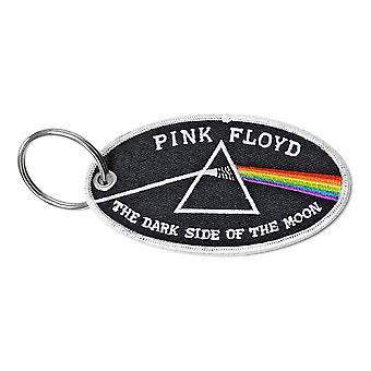 Vaaleanpunainen Floyd pimeä puoli kuun kaksipuolinen laastari avaimenpainike