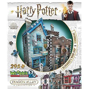 Wrebbit 3D Harry Potter Diagon Alley Collection: Ollivanders & Scribbulus Jigsaw Puzzle - 295 Pieces