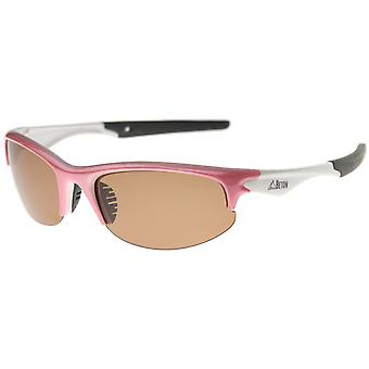 Aroa - Polarized Shatterproof Lens Semi-Rimless Sports Wrap Sunglasses 60mm