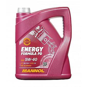 Mannol 5L Synthétique Engine Oil Energy Formula 5W-40 API SN/CH-4 Acea C3 MB 229.51 VW502/505.01