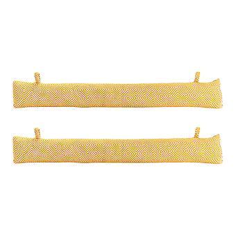 Nicola Frühling Tiefgang Ausschließer Kissen - modernen Stil Stoff für Haus, Büro - gelb - Packung mit 2