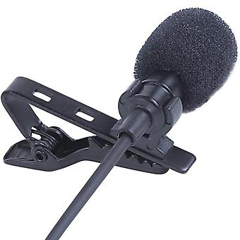 Omnidirectional Mini Audio Microphone 3.5mm Jack Lavalier Tie Clip Mic