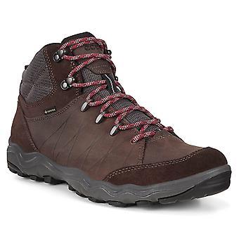 Ecco Mens Ulterra Receptor Fluid Form Gore Tex Leather Hiking Trainers