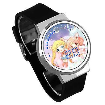 Impermeable Luminoso LED Digital Touch Reloj de niños - Sailor Moon #30