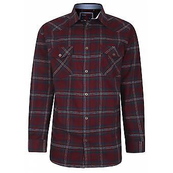 KAM Kam Brushed Cotton Check Shirt