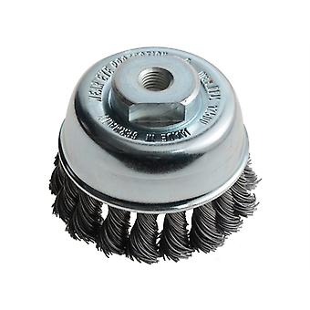 Lessmann Knot Cup Brush 65mm M10 x 0.50 Steel Wire LES482213