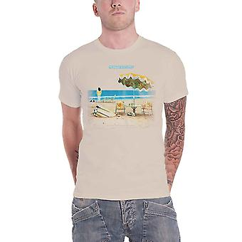 Neil Young T Shirt On The Beach Logo new Official Mens Natural Organic