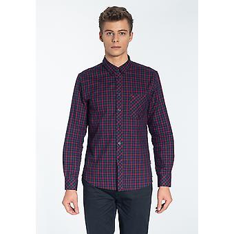 Merc KELLER, Men's Long Sleeve Flannel Check Shirt