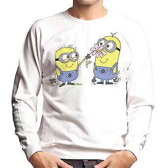 Despicable Me Minions Sniffing Flower Men's Sweatshirt