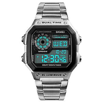 SKMEI 1335 Digital Watch Men Chronograph Alarm Watch Fashion Style Stainless