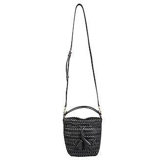 Anya Hindmarch 147934 Dames's Black Leather Schoudertas