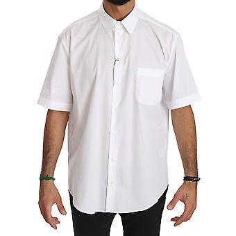 Dolce & Gabbana Valkoinen Lyhythihainen Puuvilla Miehet Top Shirt