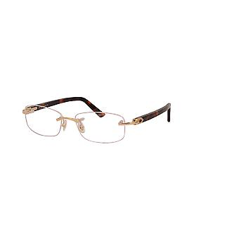 Cartier Canazei CT0048O 004 Gold-Brown Glasses