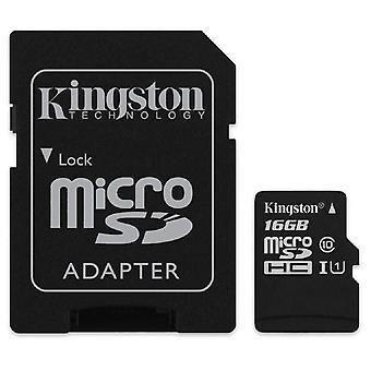 Seleto de tela kingston (sdcs/16gb) microsdclass 10 uhs-i acelera até 80 mb/s leitura (adaptador sd inclu