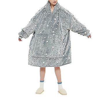 YANGFAN Pyjamas chauds confortables couverture portable à capuchon lumineux