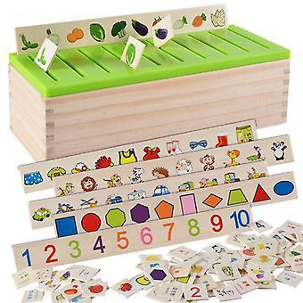 Matematická klasifikácia vedomostí Kognitívne Zodpovedajúce Deti Montessori čoskoro vzdelávacie Naučte Sa Toy Wood Box Darčeky pre deti
