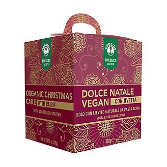 Vegan Christmas Cake with Raisins None