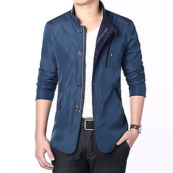 Allthemen Men's Military Stand Collar Jacket Lightweight Slim Fit Coat