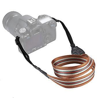 SLR / DSLR Kameralar için PULUZ Şerit Stil Serisi Omuz Boyun Askısı Kamera Kayışı (Kahverengi)
