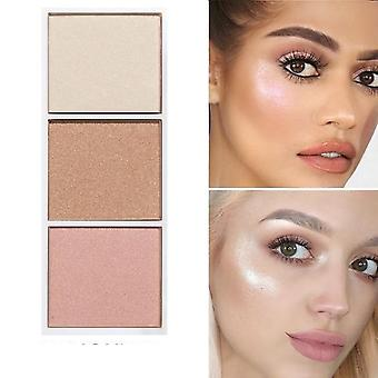 4 Farben Bronzer & Highlighter Palette - Make-up Gesicht Kontur Pulver