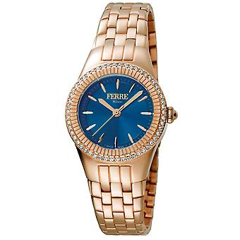 Ferre Milano FM1L089M0081 Women's Dark Blue Dial Stainle Steel Watch