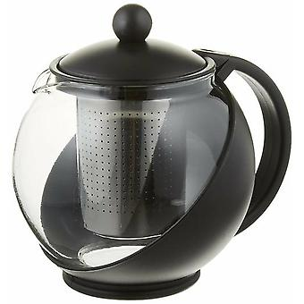 Tempered Glass Tea Pot For 2 Or More W/ Removable Steel Infuser