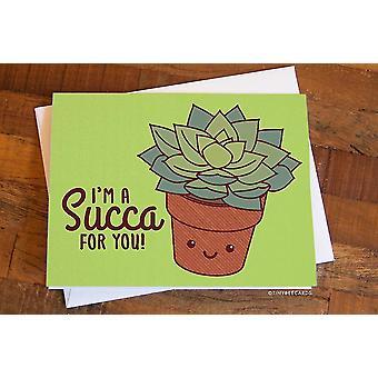 Cute Succulent Love Card