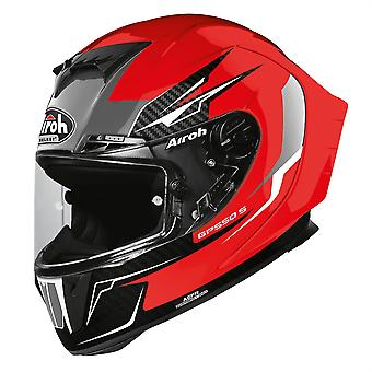 Airoh GP550S Venom Full Face Motorcycle Helmet Hi-Vis Reflective Red