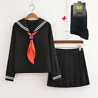Japoneză Anime Shoujo Cosplay Costum Hell Girl Student Scoala Uniforma Costum