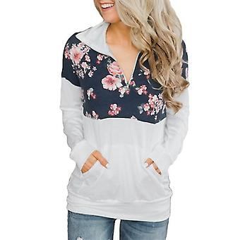 Casual Floral Collar Sweatshirt