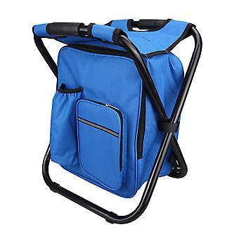 Blå 600D PVC Oxford Cloth Coating Stålrør Multifunktionel klapstol