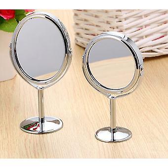 rund form, rustfritt stål dobbeltsidig sminke speil