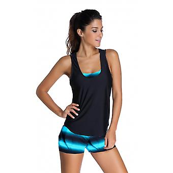 Sports Bra Tankini Swimsuit With Vest