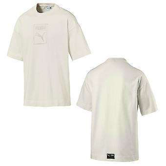 Puma Downtown Męski t-shirt z krótkim rękawem Logo Top Whisper White 576712 11 A16E