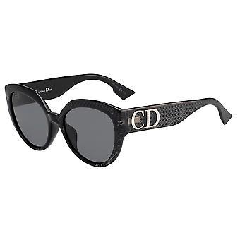ديور DDIORF الآسيوية صالح PRN/2K الفضة معكوسة النظارات الشمسية السوداء / الرمادية