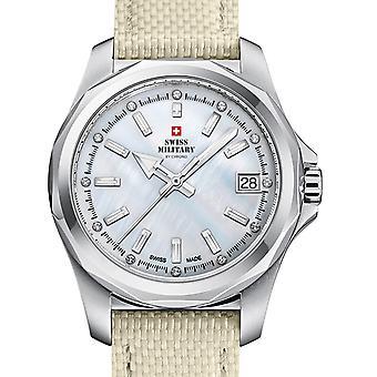 Damas reloj militar suizo por Chrono SM34069.05, cuarzo, 36 mm, 5ATM