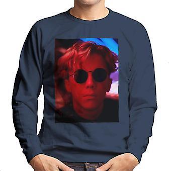 Weird Science Gary Wallace Wearing Glasses Men's Sweatshirt