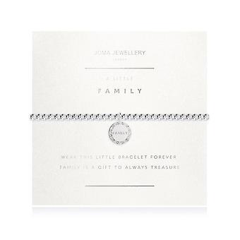 Joma joyería facetada una pequeña familia plata 17.5cm pulsera elástica 3192