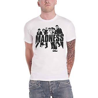 Madness T Shirt Vintage Photo Band Logo new Official Mens White